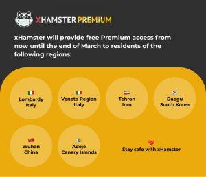 Promoción especial de coronavirus y xhamster premium
